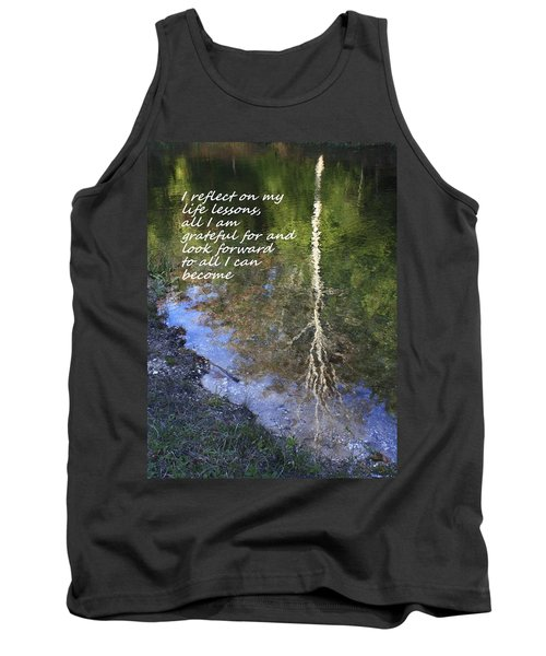 Tank Top featuring the photograph I Reflect by Patrice Zinck