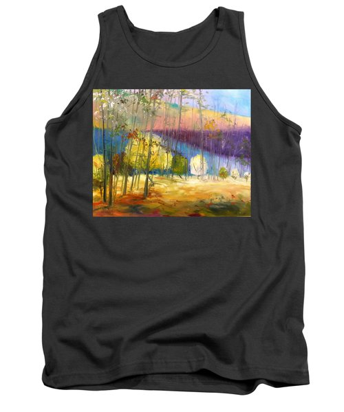 Tank Top featuring the painting I See A Glow by John Williams