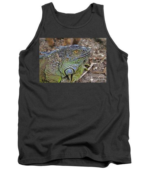 Tank Top featuring the photograph Iguana by Olga Hamilton
