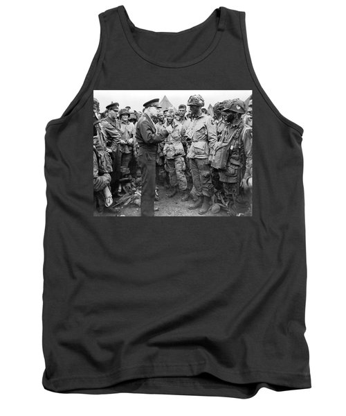 Ike With D-day Paratroopers Tank Top