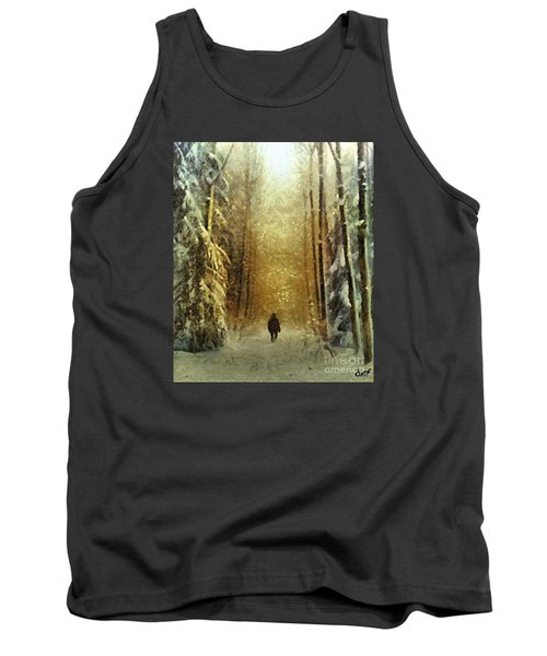 Tank Top featuring the painting I'll Be Home For Christmas by Dragica  Micki Fortuna