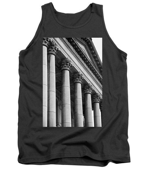 Illinois Capitol Columns B W Tank Top
