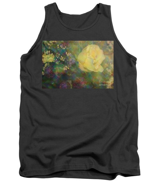 Tank Top featuring the photograph Impressionistic Yellow Rose by Dora Sofia Caputo Photographic Art and Design