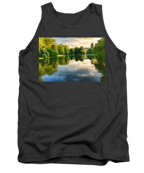 Impressions Of Summer - St James's Park Lake Reflections Tank Top