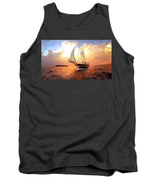 In Full Sail - Oil Painting Edition Tank Top