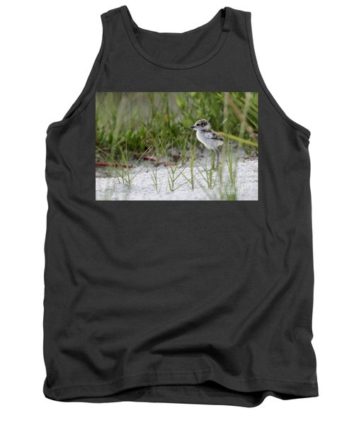 In The Grass - Wilson's Plover Chick Tank Top