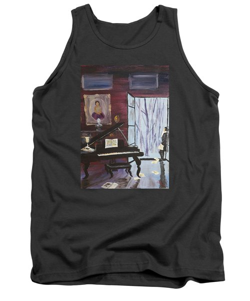Tank Top featuring the painting In The Still Of The Night by Alan Lakin
