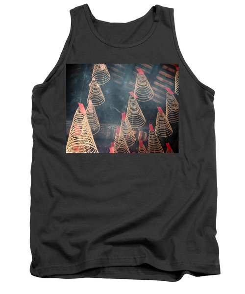 Tank Top featuring the photograph Incense Coils by Lucinda Walter