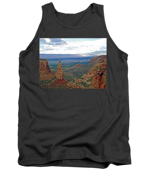Independence Monument In Colorado National Monument Near Grand Junction-colorado Tank Top by Ruth Hager