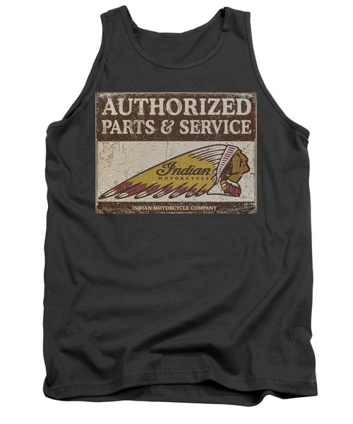 Indian Motorcycle Sign Tank Top