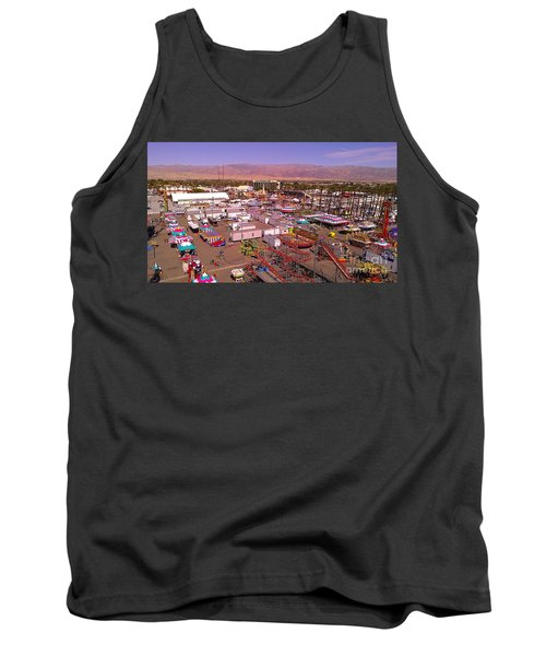 Tank Top featuring the photograph Indio Fair Grounds by Chris Tarpening