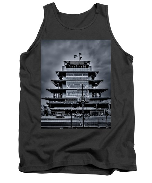 Indy 500 Pagoda - Black And White Tank Top