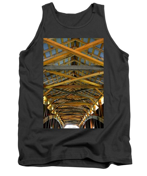 Inside A Covered Bridge 3 Tank Top