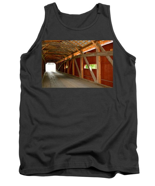 Inside A Covered Bridge Tank Top