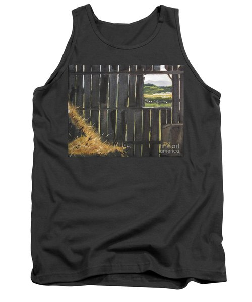 Barn -inside Looking Out - Summer Tank Top