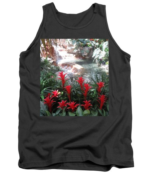 Interior Decorations Water Fall Flowers Lights Shades Tank Top by Navin Joshi