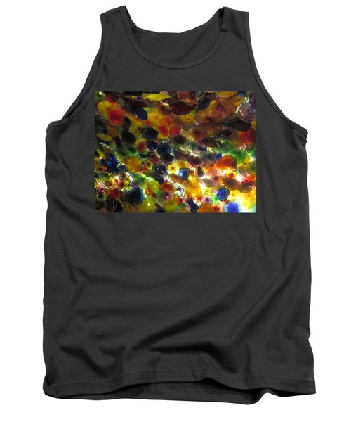 Tank Top featuring the photograph Interior Roof Decorations Casino Hotel Resorts Las Vegas by Navin Joshi