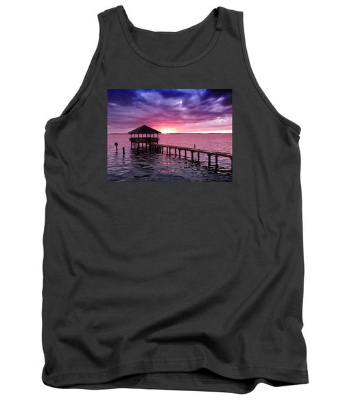 Tank Top featuring the photograph Into The Horizon by Rebecca Davis