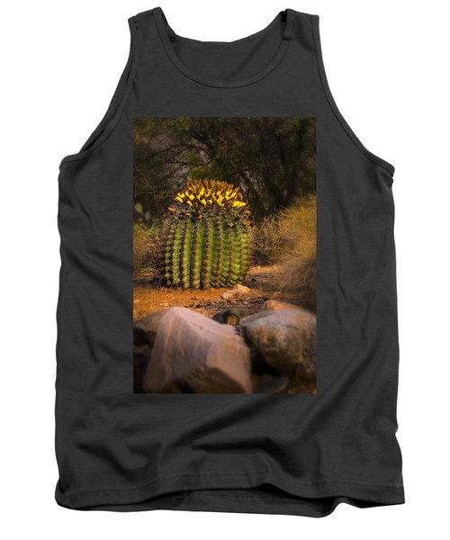 Tank Top featuring the photograph Into The Prickly Barrel by Mark Myhaver