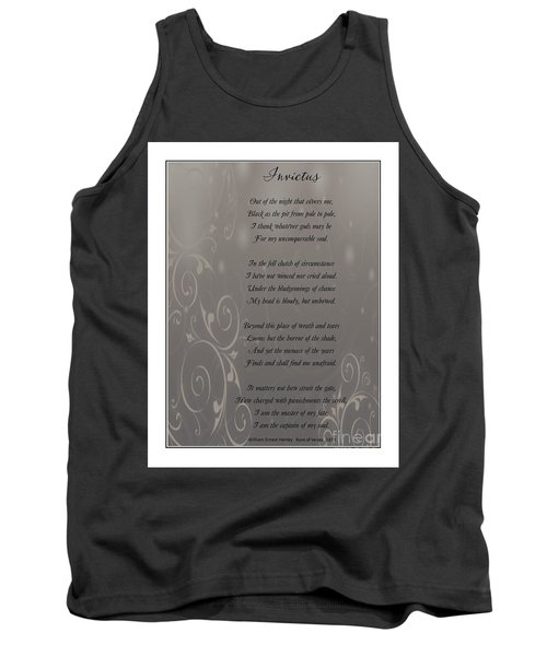 Invictus Tribute 2 Tank Top by Bobbee Rickard