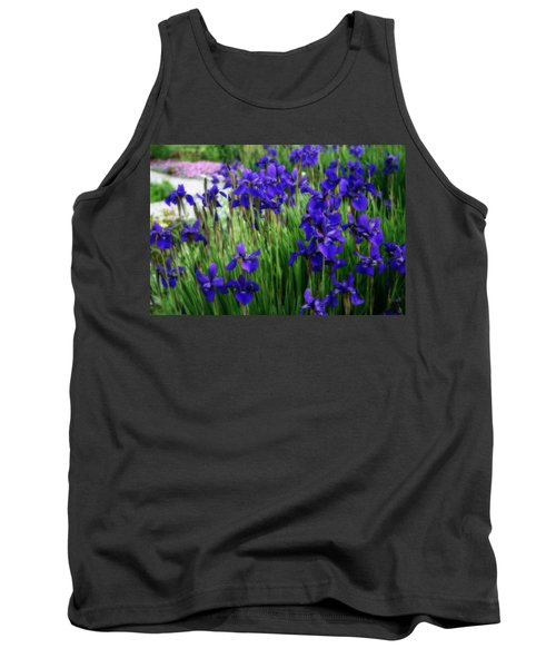 Tank Top featuring the photograph Iris In The Field by Kay Novy