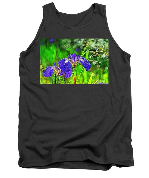 Tank Top featuring the photograph Irises by Cathy Mahnke
