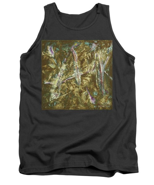 Tank Top featuring the painting It's Crazy Out There by Mini Arora