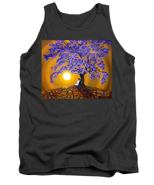 Jacaranda Sunset Meditation Tank Top by Laura Iverson