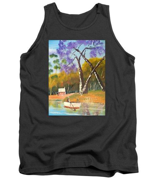 Tank Top featuring the painting Jacaranda Tree by Pamela  Meredith
