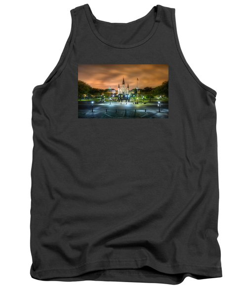 Tank Top featuring the photograph Jackson Square At Night by Tim Stanley