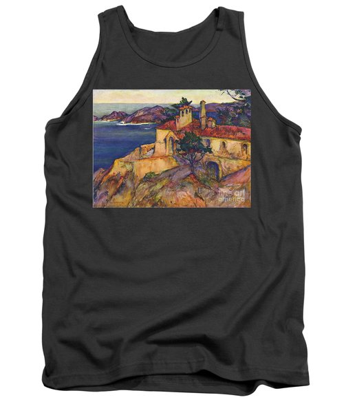 James House Carmel Highlands California By Rowena Meeks Abdy 1887-1945  Tank Top by California Views Mr Pat Hathaway Archives