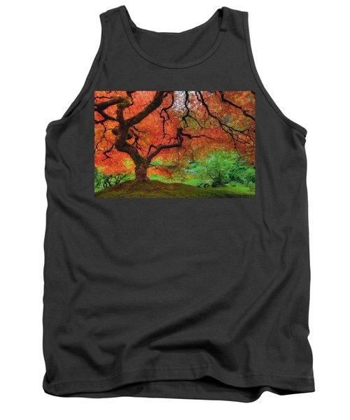 Japanese Maple Tree In Autumn Tank Top