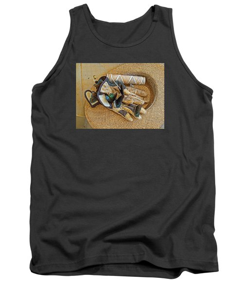 Tank Top featuring the photograph Jean's Butterflies by Larry Bishop