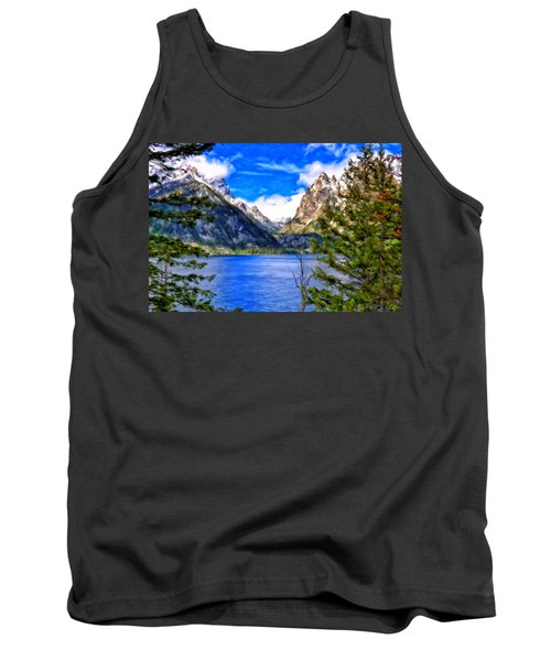 Tank Top featuring the painting Jenny Lake by Michael Pickett