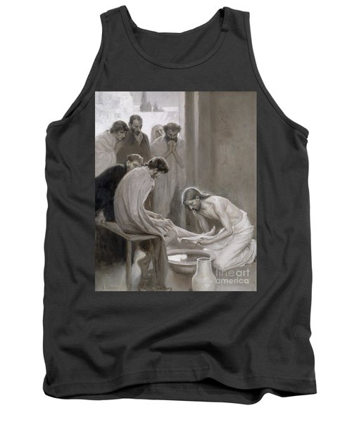Jesus Washing The Feet Of His Disciples Tank Top