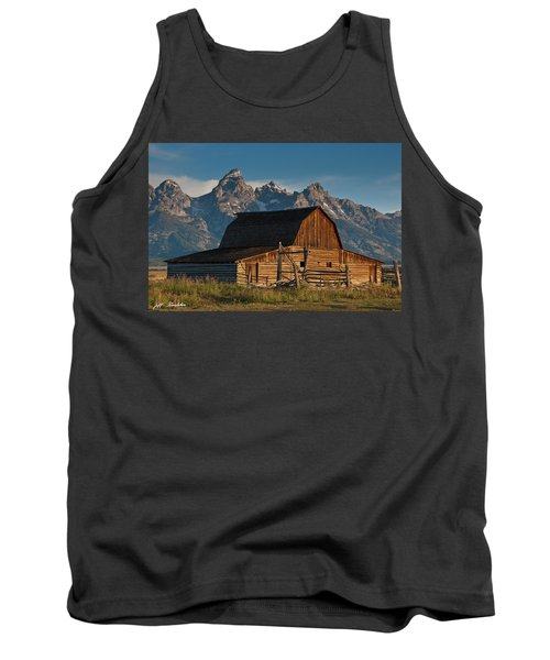 Tank Top featuring the photograph John And Bartha Moulton Barn by Jeff Goulden