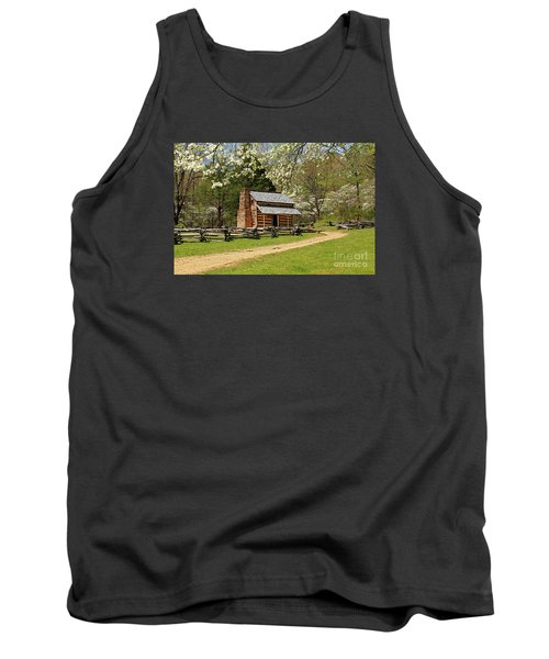 Tank Top featuring the photograph John Oliver's Cabin by Geraldine DeBoer
