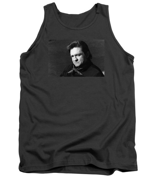 Tank Top featuring the photograph Johnny Cash Close-up The Man Comes Around Music Homage Old Tucson Az  by David Lee Guss