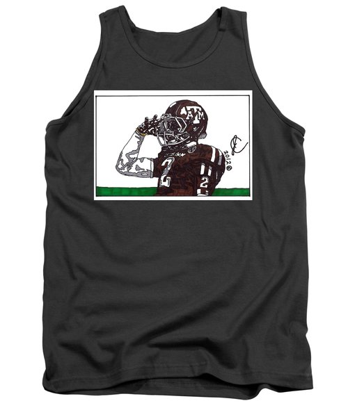Johnny Manziel The Salute Tank Top by Jeremiah Colley