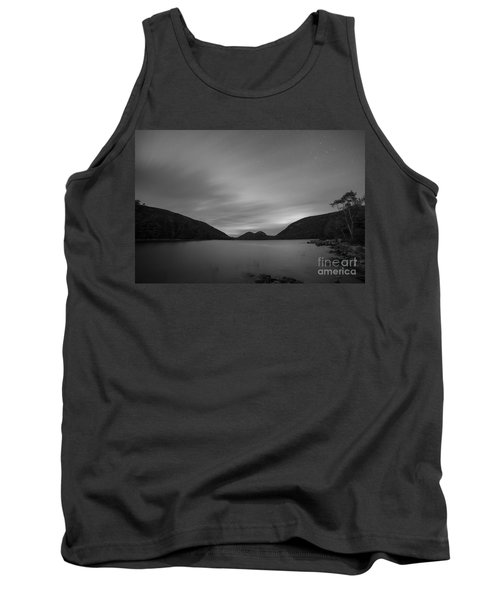 Jordan Pond Blue Hour Bw Tank Top