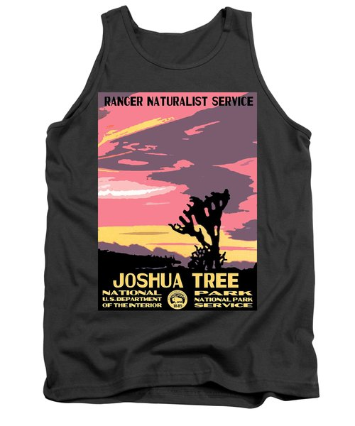 Joshua Tree National Park Vintage Poster Tank Top