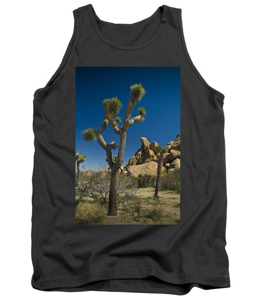 California Joshua Trees In Joshua Tree National Park By The Mojave Desert Tank Top by Randall Nyhof