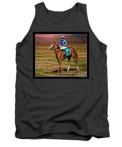 Juan Hermandez On Horse Atticus Ghost Tank Top