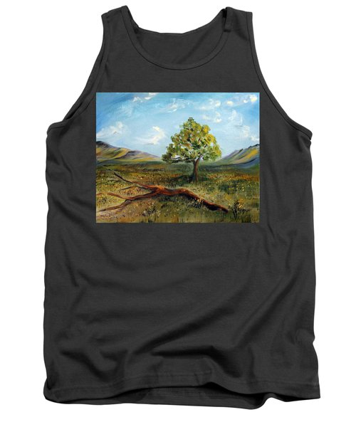 Tank Top featuring the painting Jubilant Fields by Meaghan Troup