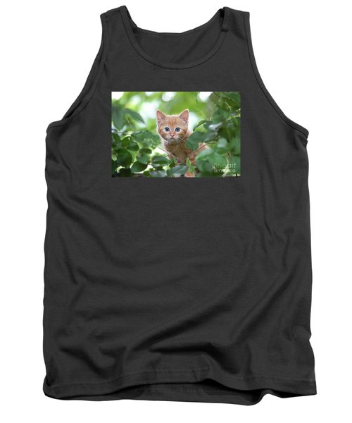 Jungle Kitty Tank Top by Debbie Green