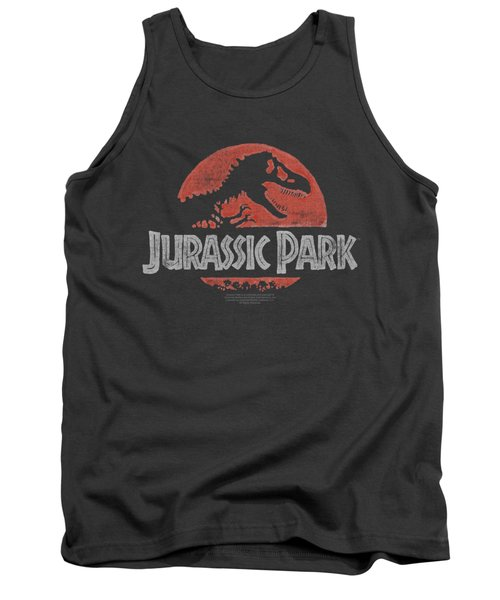 Jurassic Park - Faded Logo Tank Top by Brand A