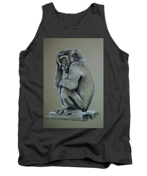 Just Thinking Tank Top by Jean Cormier