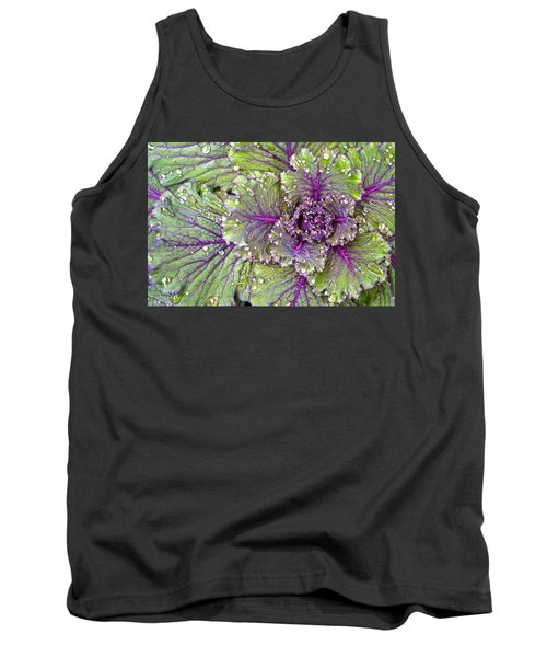 Kale Plant In The Rain Tank Top