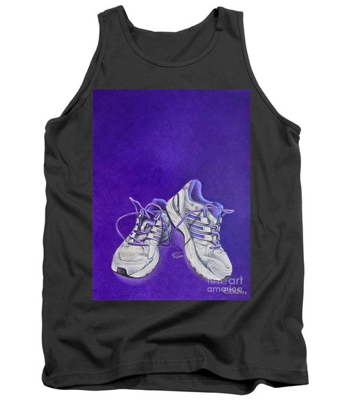 Tank Top featuring the painting Karen's Shoes by Pamela Clements