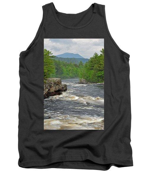 Katahdin And Penobscot River Tank Top by Glenn Gordon